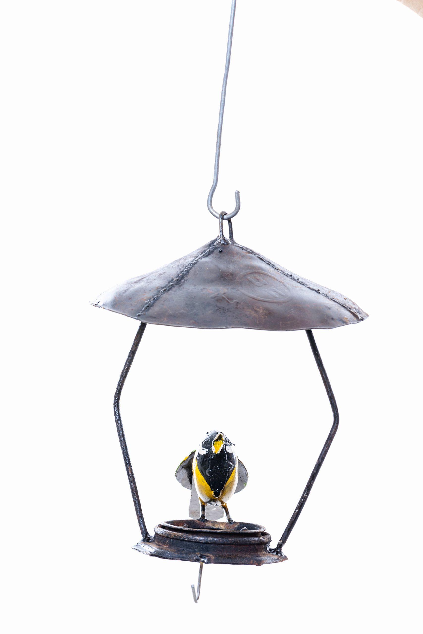 METAL GREAT TIT HANGING BIRDFEEDER